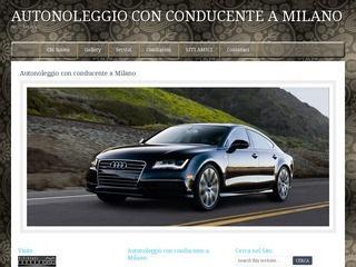 autonoleggio con conducente a milano